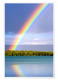 Premium poster  Rainbow on Lake Naknek - Jerry Ginsberg