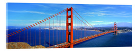 Acrylic print  Golden Gate bridge from above - Ric Ergenbright