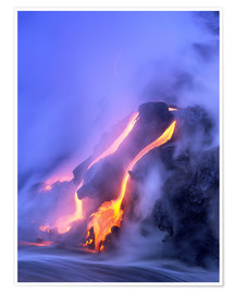 Premium poster Eruption of Kilauea volcano