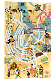 Acrylic print  Vintage Amsterdam Collage Poster - GreenNest