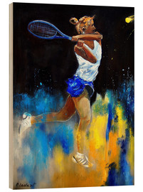 Wood print  Tennis player - Pol Ledent