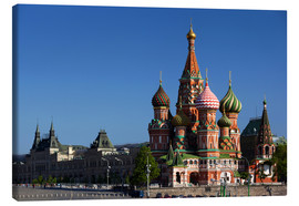 Canvas print  St. Basil's Cathedral in Moscow - Walter Bibikow