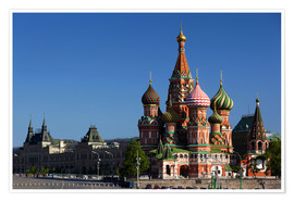Premium poster  St. Basil's Cathedral in Moscow - Walter Bibikow
