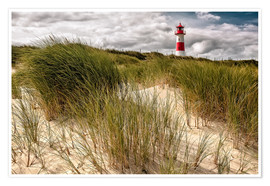 Premium poster  Lighthouse List East (Sylt) - Dirk Wiemer