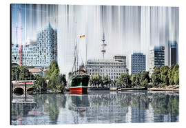 Aluminium print  Hamburg Germany World Skyline - Städtecollagen