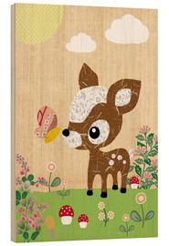 Wood print  Deery - GreenNest