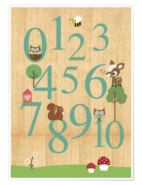 Premium poster  Educational Numbers - learn to count - GreenNest
