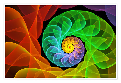 Premium poster Fractal 'The colors and the light'