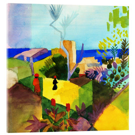Acrylic print  Landscape by the sea - August Macke