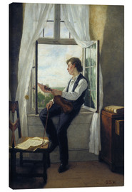 Canvas print  The violinist at the window in 1861 - Otto Franz Scholderer