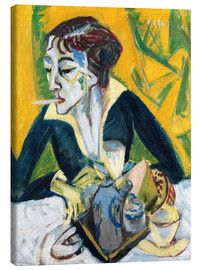 Canvas print  Erna with a Cigarette - Ernst Ludwig Kirchner