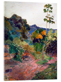 Acrylic print  Coastal landscape on Martinique - Paul Gauguin