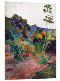 Foam board print  Coastal landscape on Martinique - Paul Gauguin
