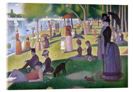 Acrylic print  A sunday afternoon on the island of La Grande Jatte - Georges Seurat