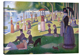 Canvas print  A sunday afternoon on the island of La Grande Jatte - Georges Seurat