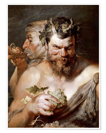 Premium poster  Two Satyrs - Peter Paul Rubens