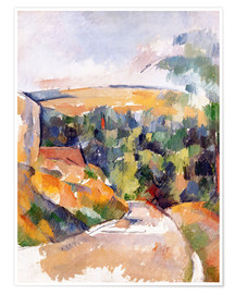 Premium poster  Bend in the road - Paul Cézanne