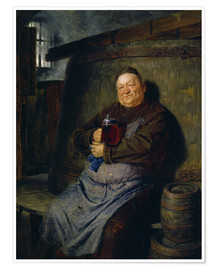 Premium poster  Brother master brewer of beer in the cellar. In 1902. - Eduard Grützner
