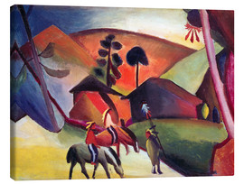 Canvas print  Indians on horseback - August Macke