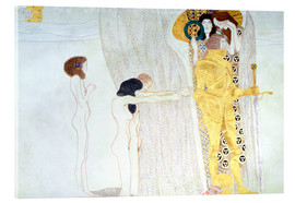 Acrylic print  Beethoven Frieze, desire for the luck - Gustav Klimt