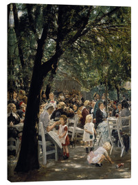Canvas print  Munich beer garden - Max Liebermann