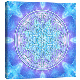 Canvas print  Flower of Life - Dolphin Awareness - Dolphins DreamDesign