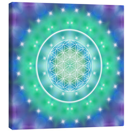 Canvas print  Flower of Life - Relaxation - Dolphins DreamDesign