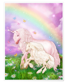 Premium poster Unicorn rainbow magic