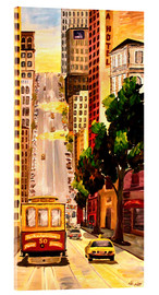 Acrylic print  San Francisco - Van Ness Cable Car - M. Bleichner