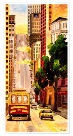 Premium poster  San Francisco - Van Ness Cable Car - M. Bleichner