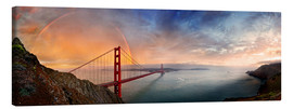 Canvas print  San Francisco Golden Gate with rainbow - Michael Rucker