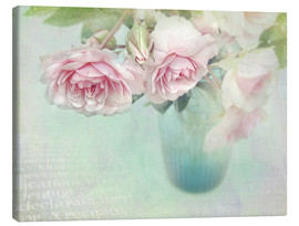 Canvas print  pink roses - Lizzy Pe
