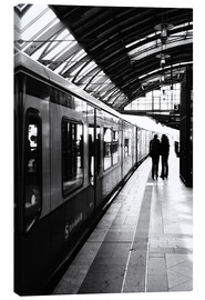 Canvas print  S-Bahn Berlin black and white photo - Falko Follert