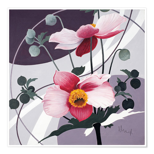Premium poster Swinging blossoms
