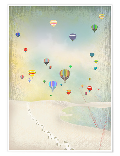 Premium poster Hot air balloon day