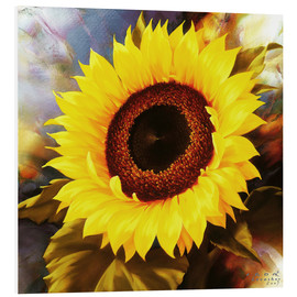 Foam board print  sunflower - Igor Levashov