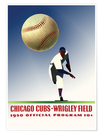 Premium poster chicago cubs 1950