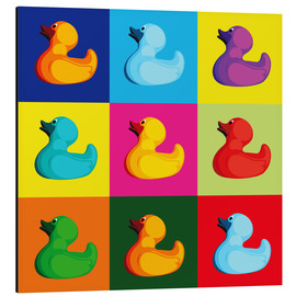 Aluminium print  Pop art duck - coico