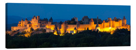 Canvas print  France - Castle Carcassone - Tobias Richter
