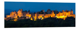 Foam board print  France - Castle Carcassone - Tobias Richter