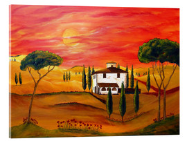Acrylic print  Warmth of Tuscany - Christine Huwer