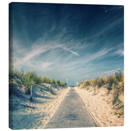 Canvas print  Way to the beach - Thomas Deter