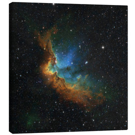 Canvas print  NGC 7380 in the Hubble palette colors - Rolf Geissinger
