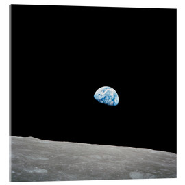 Acrylic print  Earth from the Moon