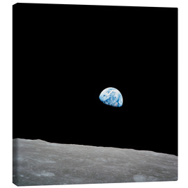 Canvas print  Earth from the Moon
