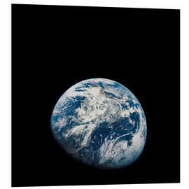 Foam board print  Earth from the viewpoint of Apollo 8