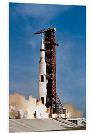 Foam board print  Apollo 11 taking off from Kennedy Space Center