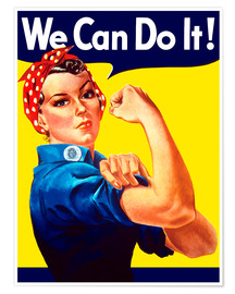 Premium poster  Rosie The Riveter, We can do it! - John Parrot