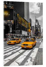 Acrylic print  Yellow cabs on Time Square 2 - Hannes Cmarits