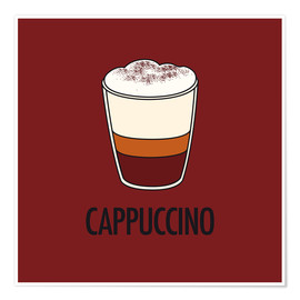 Premium poster  Cappuccino, for the italian lover in you! - JASMIN!
